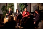 Marta Kubišová, Milan Hein, moderátor Laco Miko a Petr Malásek v Czech Fun Clubu, Brusel